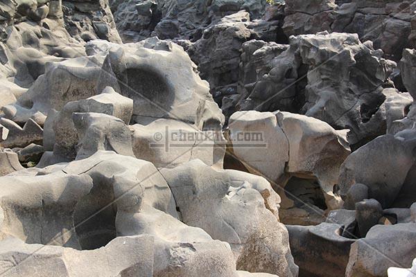 Carved rocks of potholes