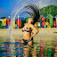 Whipping Summer  by Crighton Klassen - People Portraits of Women ( water, tidal pool, australia, whip, hair )