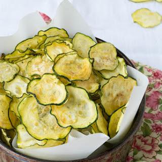 Salt and Vinegar Zucchini Chips.