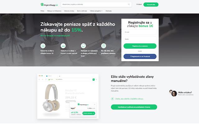 Mojenákupy.sk - cashback rozšírenie