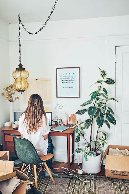 ruang kantor minimalis - ashleyneese
