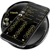Dialer Circle Black Gold Theme