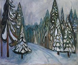 "Photo: Edvard Munch, ""La prima neve"" (1900-1901)"