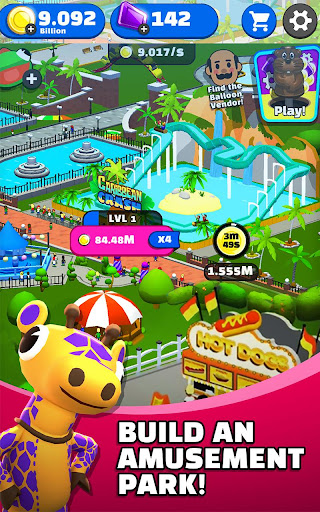 Click Park  Idle Building Roller Coaster Game! - screenshot