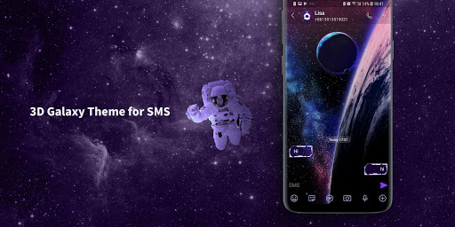 Galaxy SMS Messenger 2019 - SMS Lock&Free Stickers screenshot 1