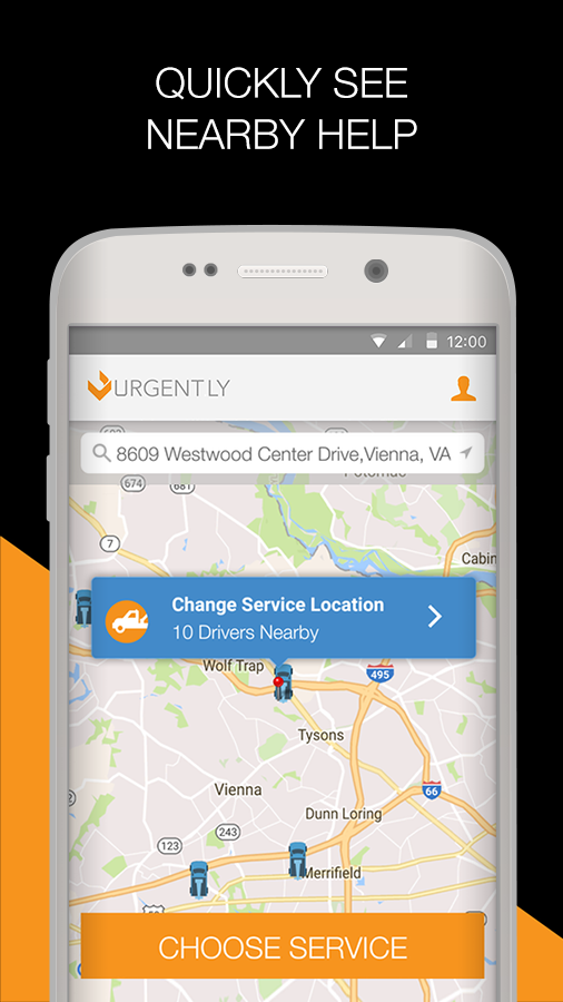 Urgent.ly Roadside Assistance- screenshot