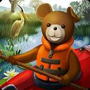 Teddy Floppy Ear: Kayaking