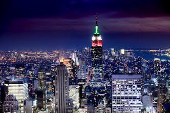 Photo: This was an HDR shot from Top of the Rock. It's the first time I've worked on the color version.  http://www.beckermanphoto.com/new-york-skyline-night-color.html