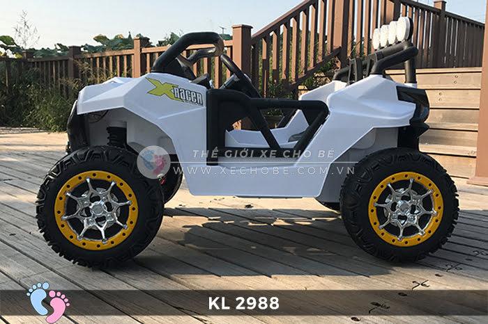 Xe ô tô điện đồ chơi trẻ em KL-2988 ghế da 8