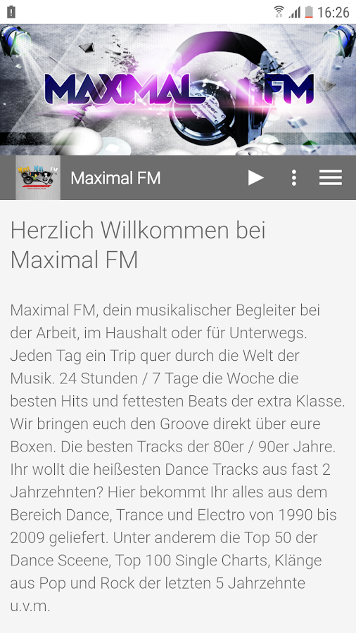 Maximal FM- screenshot