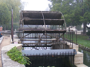 Photo: Sunday starts at L'Isle-sur-la-Sorgue, where the branches of the Sorgue river powered 10 water wheels for silk, paper, grain, and olive oil mills.