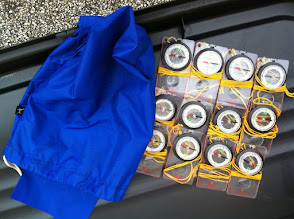 Photo: Compasses in blue sack