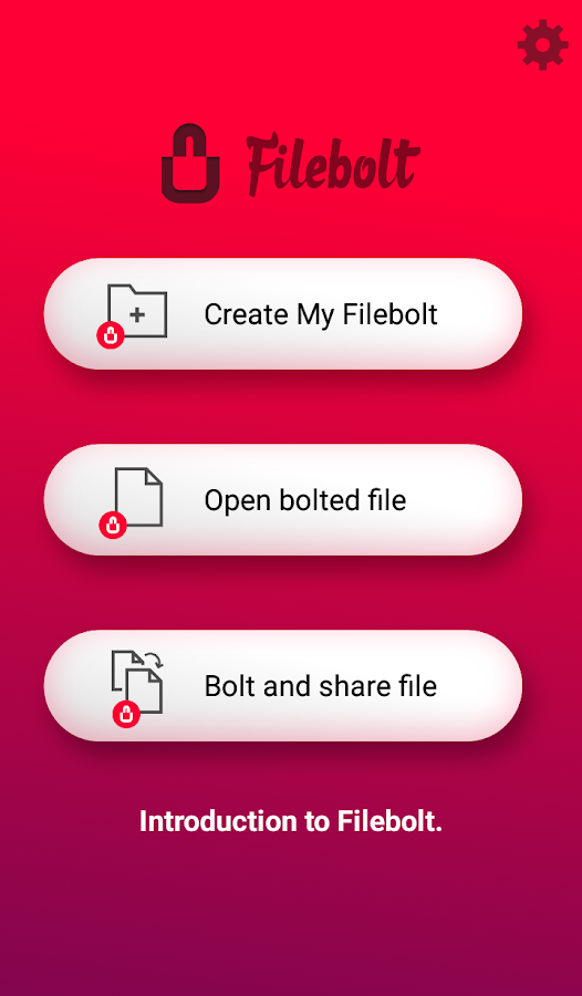 Filebolt- screenshot