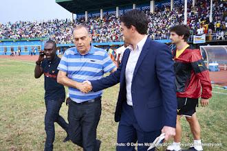 Photo: Full time: Head Coaches Avram Grant (Ghana) and Johnny McKinstry (Rwanda) congratulate each other on a good game [Rwanda Vs Ghana AFCON2017 Qualifier, 5 Sep 2015 in Kigali, Rwanda.  Photo © Darren McKinstry 2015