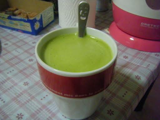 Maccha latte prêt !