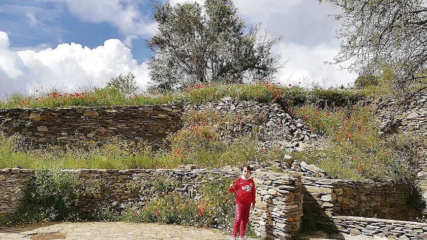 Las ruinas nazaríes de la Torre de Alhabia, el elemento más importantes del patrimonio histórico de Alcudia de Monteagud.