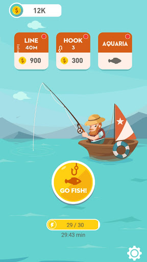 Happy Fishing - Catch Fish and Treasures  captures d'écran 1