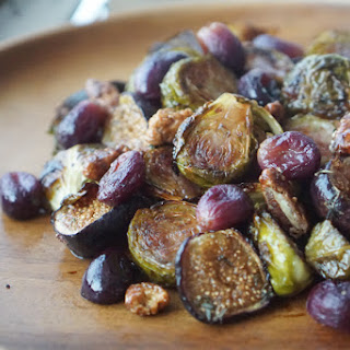 Balsamic Roasted Brussels Sprouts, Grapes & Figs