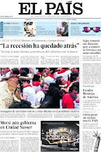 Photo: Entrevista con el ministro de Economía, Luis de Guindos, la legalización de 11 millones de personas transformará la esencia de EE UU y pánico en el penúltimo encierro de San Fermín, en nuestra portada del domingo 14 de julio http://ep00.epimg.net/descargables/2013/07/14/5a44c265c759bd301e9cde4e66f0aca1.pdf