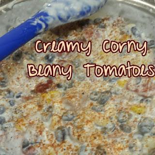 Creamy Corny Beany Tomatoes