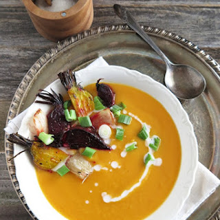 Creamy Butternut Squash, Carrot and Ginger Soup (Paleo, AIP).