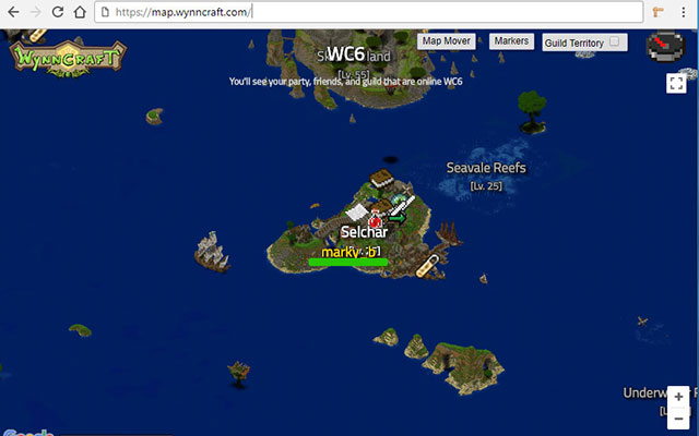 Wynncraft Map Mover