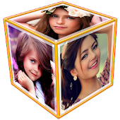 3D Photo Frame Cube Live Wallpaper