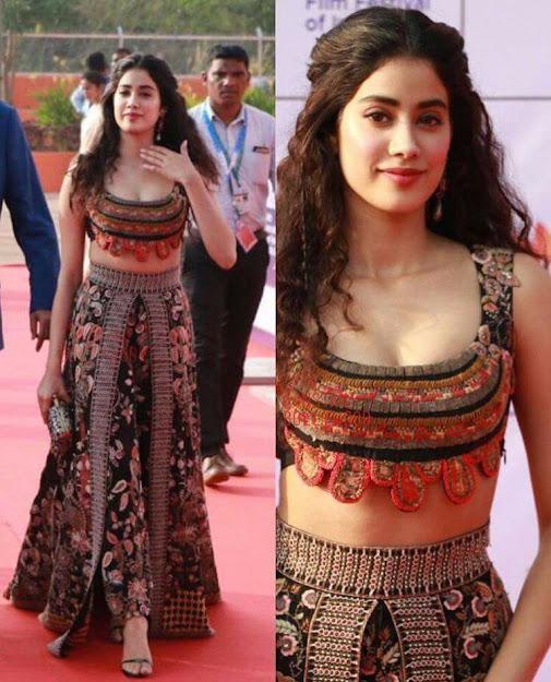 Janhvi Kapoor beautiful, Janhvi Kapoor HD Wallpaer, Janhvi Kapoor in indian dress