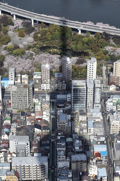 Cień Skytree, Tokio, Japonia