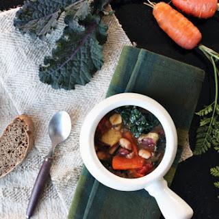 Sweet Potato Kale Bean Soup