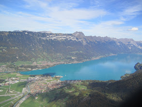 Photo: Interlaken from the air at 2200 meters