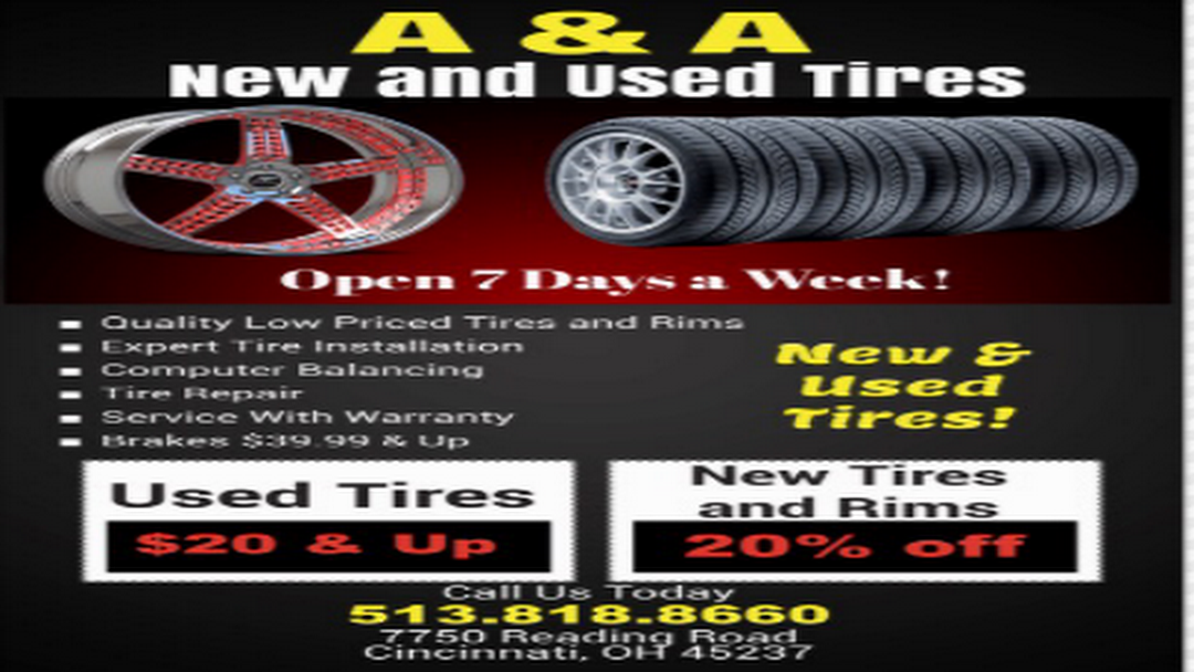 Tire Repair Near Me Open Sunday >> A A New Used Tires Tire Shop In Cincinnati