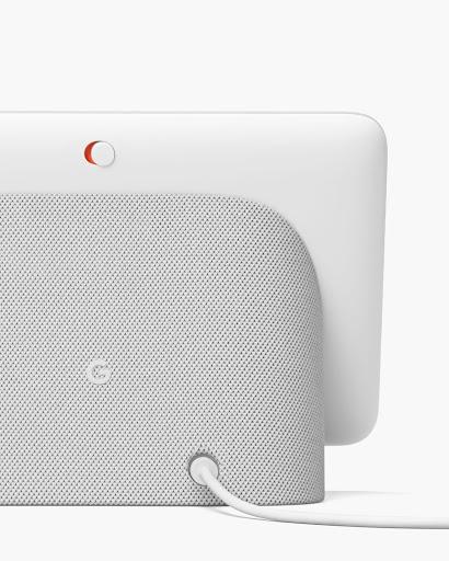 Google Nest Hub のマイクスイッチの拡大写真。