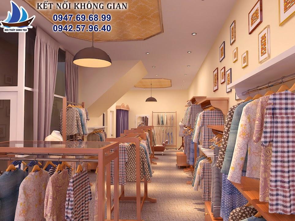 thiết kế cửa hàng thời trang nữ nhỏ tại hà nội