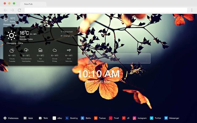 秋季 新标签页 高清壁纸 流行风景 主题