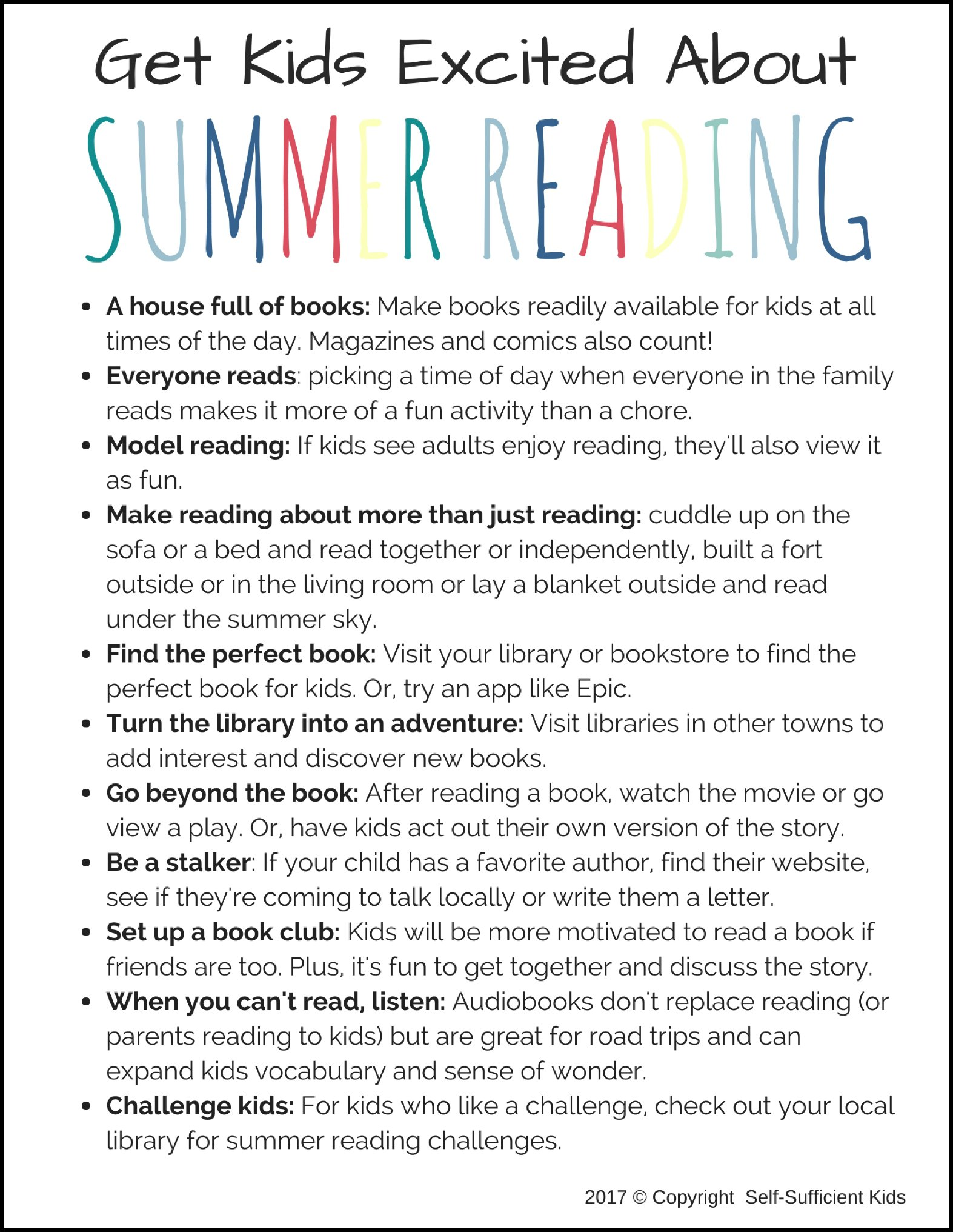 Get kids excited about summer reading with these tips and ideas