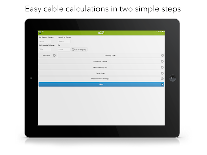 Cable Calculator Screenshot