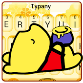 Cute Yellow Honey Winnie Bear Typany Keyboard