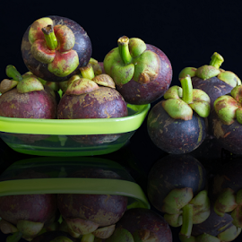 Mangosteen by Sam Song - Food & Drink Fruits & Vegetables ( fruit, tropical )