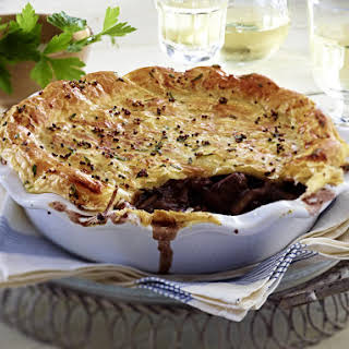 Hunter's Pot Pie with Mushrooms and Bacon.