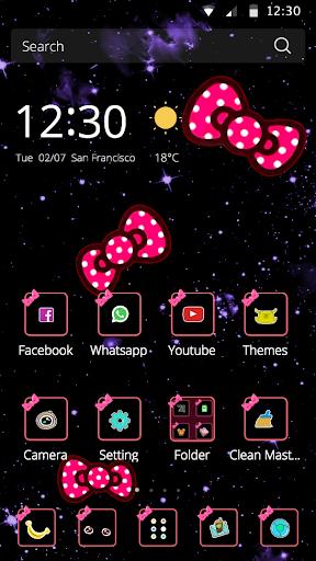 玩免費生活APP|下載蝴蝶结粉红点点图标简约可爱的少女手机主题 app不用錢|硬是要APP