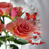 Pink Rose Butterfly LWP