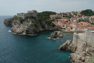Photo: Looking at Fort Lovrijenac, from top of Dubrovnik walls walk
