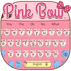 Pink Cute Tie  Keyboard Theme for PC