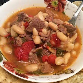 Pressure Cooker Pork White Bean Chili.