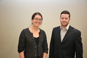 Photo: Adrianne Mitani and Richard Cameron (Career Fair Organizers)