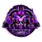 Purple Metal Skull Keyboard Theme Android APK Download Free By Bs28patel