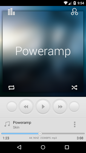 Poweramp Simple Skin 2 in 1