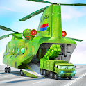 US Army Humvee Jeep Car Transporter - Parking Game icon