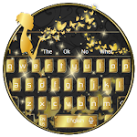 Shining Beauty Butterfly Keyboard Theme